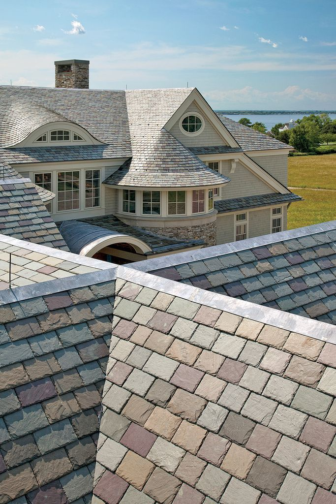 Slate Roofing By Sweeney Brothers Construction Photography By Richard Mandelkorn Slate Roof Roofing Roof Design
