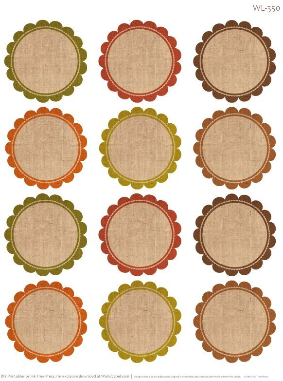 40 Awesome round label templates images