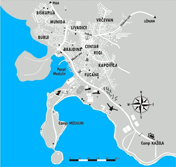 Medulin Croatia Map