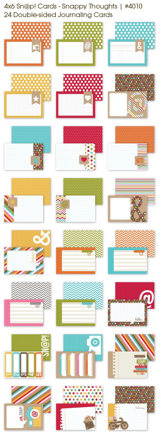 4x6SnappyThoughtsCollage; simple stories journal cards, perfect for PL