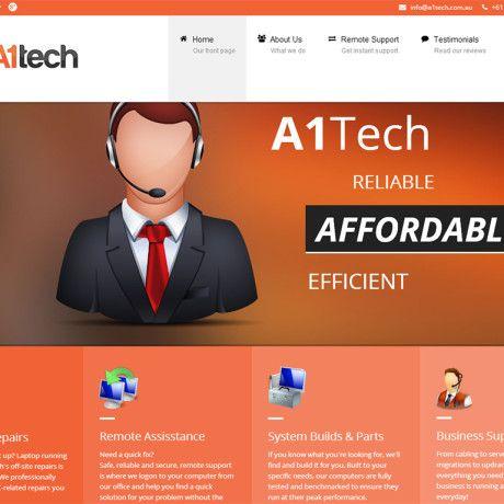 Computer Repairs Services Company Website Design
