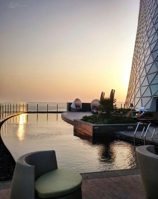 One of our favorite spots in Abu Dhabi, at HYATT Capital Gate. Photo courtesy of da7m1_ on Instagram.