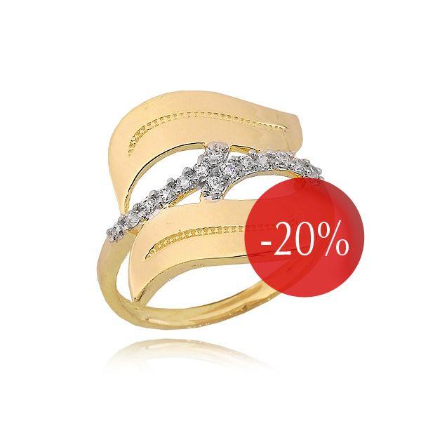 Pierścionek złoty P1664 - Biżuteria Pandora. Pierścionki zaręczynowe - Sklep Fugart.pl