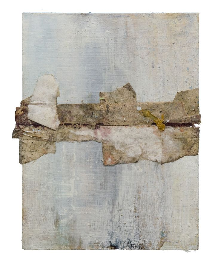 """detritus horizon, mixed media on paper, 4.5"""" by 6.25"""", ND. by neal t walsh."""