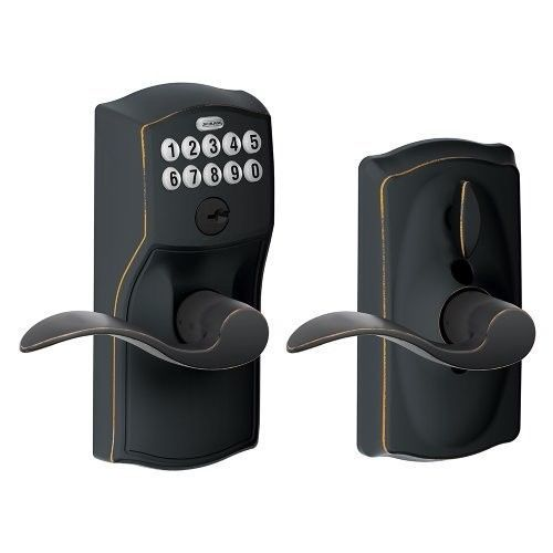 Keyless Door Lock Knob Keypad Electronic Code Entry Security Button Programmable #Schlage