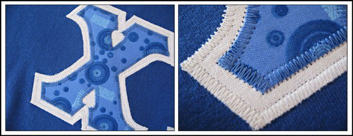 The Edge of Reason: Tee-shirt applique - a how to pictorial instruction guide