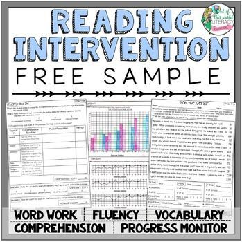 Everything you need for tier 2 or tier 3 reading interventions, including passages, running records, comprehension, vocabulary, word work, and progress monitoring!  Great for tier 1 instruction and practice too!