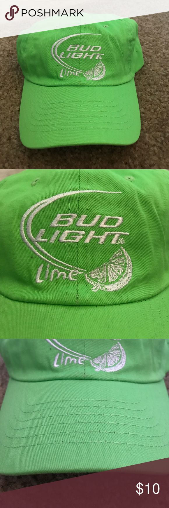Bud Light Lime Green Hat Adjustable Bud Light Lime Green Hat Adjustable Velcro Strap, Brand New, Never Worn or Used. 🎄WILL SHIP IN ONE DAY🎄All bundles of 2 or more receive 20% off. Closet full of new, used and vintage Vans, Skate and surf companies, jewelry, phone cases, shoes and more Bud Light Accessories Hats
