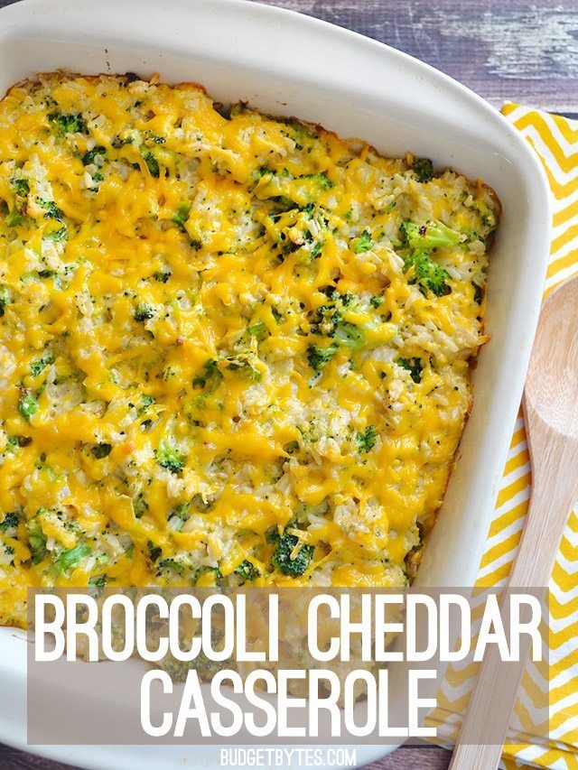 """A creamy broccoli cheddar casserole from scratch, using no """"cream of"""" soups. Rich and satisfying without weighing you down. Step by step photos."""