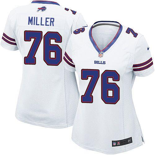 $24.99 Nike Limited John Miller White Women's Jersey - Buffalo Bills #76 NFL Road