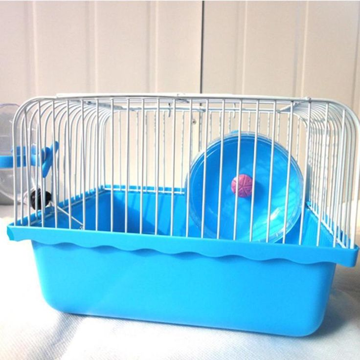 Hamster Mouse Cage Small Animal Rabbit Rat Squirrel Guinea Pig House Habitat with Play Running Wheel Water Bottle