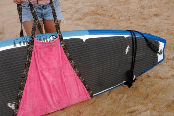 Hele Board Wrap Stand Up Paddle Board & Longboard Surfboard Carrier / Towel on Etsy, $45.00