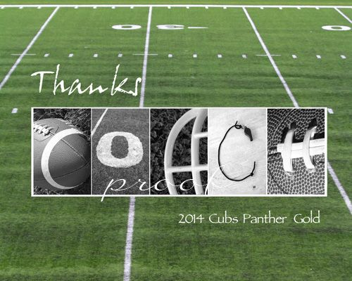 Thanks COACH in football themed letters personalized with team name and year.  Available as a 5x7, 8x10 or 11x14 inch print ready for framing.  Created at www.kathystanczak.ca