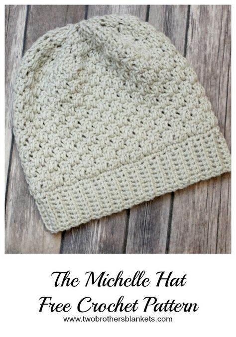 Free crochet pattern, named the Michelle Hat, is a crochet hat made ...