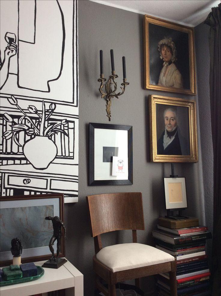 Grey Interiors, Traditional Decor, Interior Paint, Entrance, Murals, Loft,  Walls, Architecture, Ideas