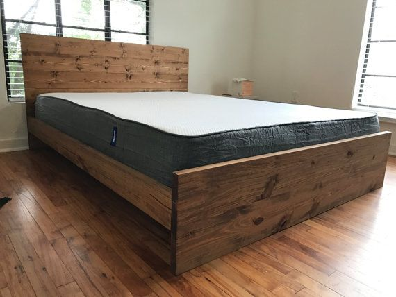 25 best ideas about solid wood bed frame on pinterest rustic wood bed solid wood beds and. Black Bedroom Furniture Sets. Home Design Ideas