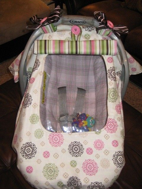 car seat cover with window