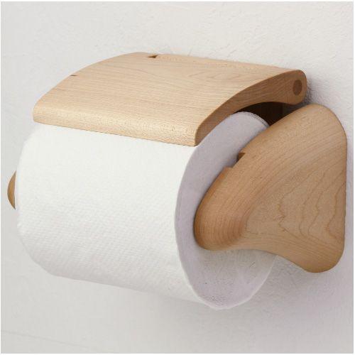 木製 北欧 トイレットペーパーホルダー 紙巻器「蒼 HW-T-MPL」 木製トイレットペーパーホルダー 蒼 HW-T-MPL