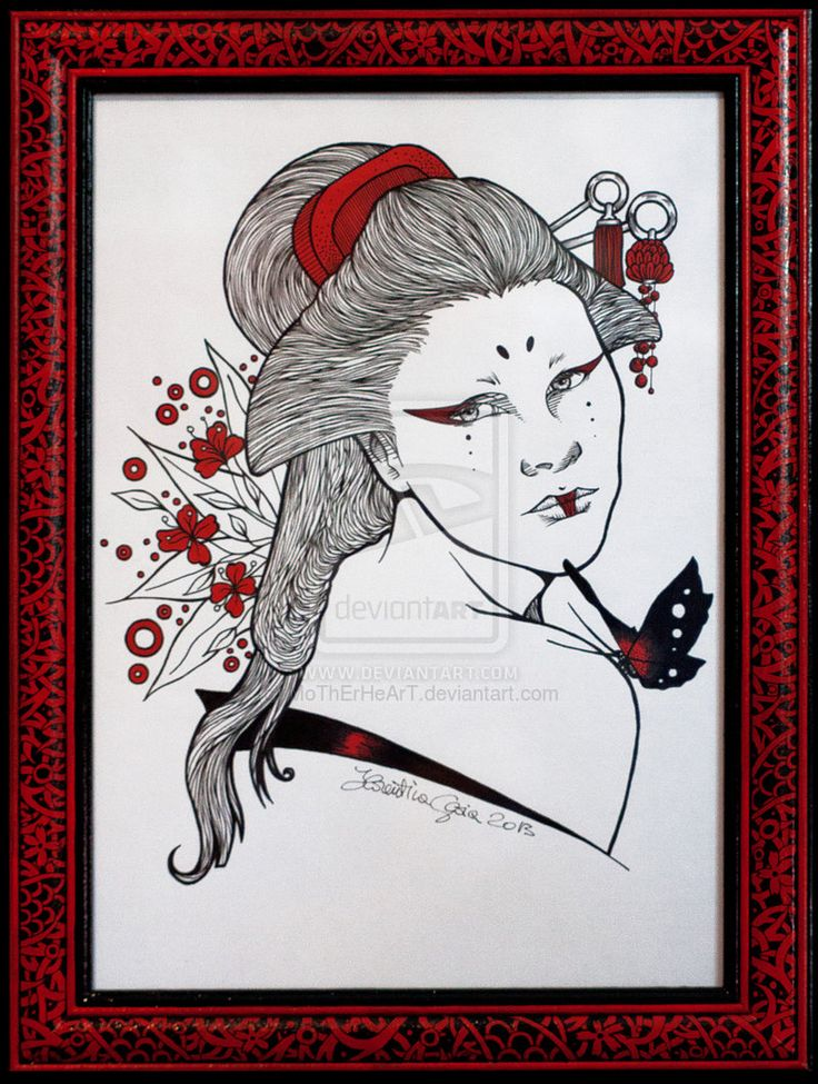 Geisha by MoThErHeArT.deviantart.com on @deviantART