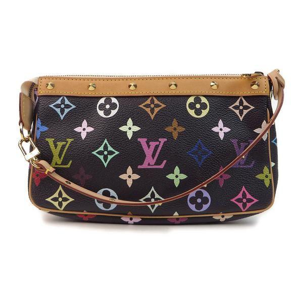 Louis Vuitton Multicolor Pochette Accessories Black