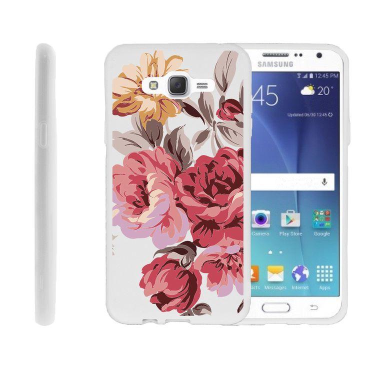Samsung Galaxy J7 FLEX FORCE Flexible Slim Fit Case - Autumn Flowers