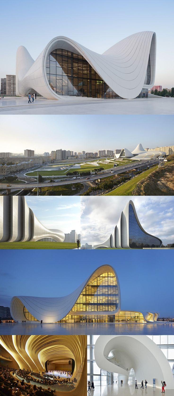 Heyd r liyev m rk zi heydar aliyev center by zaha hadid for Arquitectura zaha hadid