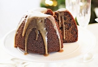 Christmas pudding and brandy butter—so delicious!