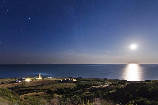 St Catherine's Lighthouse by Moonlight