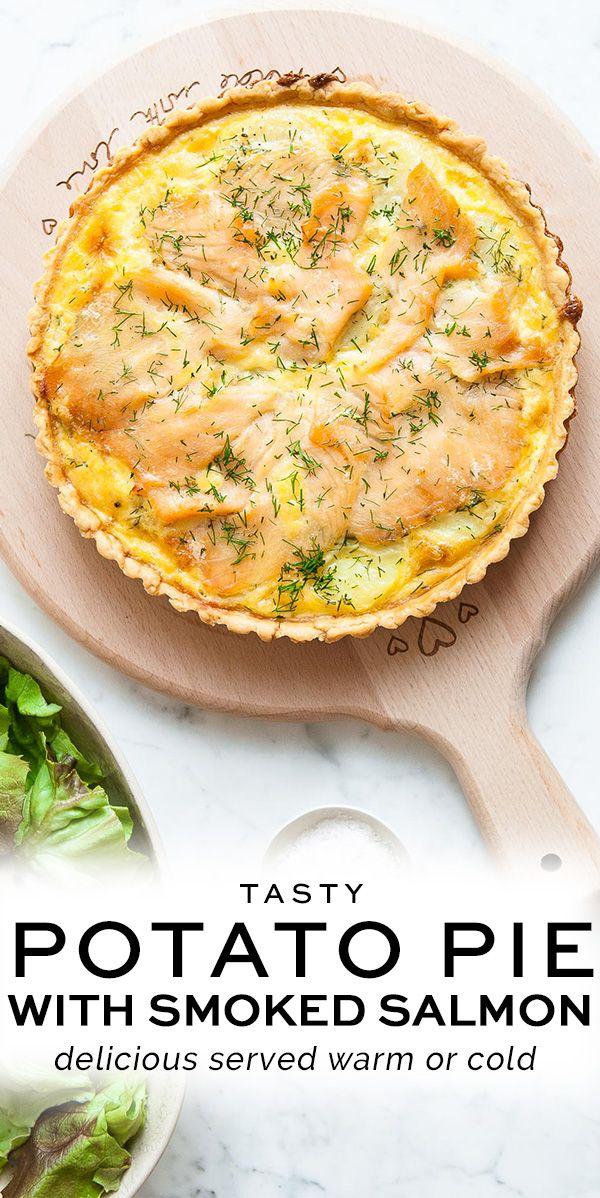 Potato Pie with Smoked Salmon and Dill