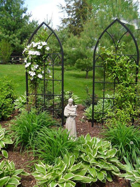 Great idea for my Merry Mary Garden.