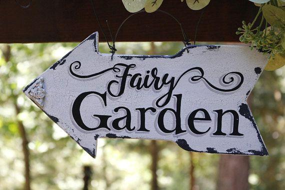 Fairy Garden Sign Flower Garden Decor Vintage Garden Decor Garden Sign Rustic Garden Decor Rustic Garden Art Custom Garden Sign Per Garden Signs Rustic Garden Decor Vintage Garden Decor