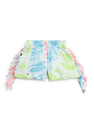 Flowers by Zoe Girls' Fringe Tie Dye Shorts - Sizes 2-6X | Bloomingdale's