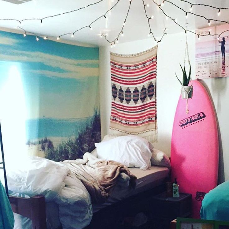 My roommate called me crazy for having a surfboard in my dorm room.