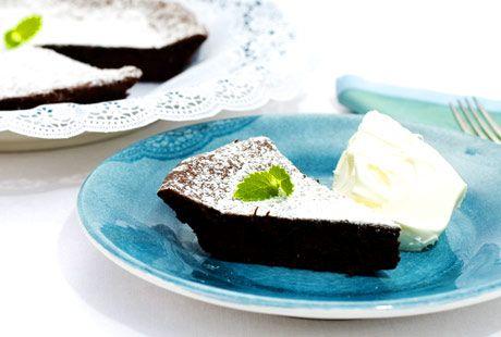 Kladdkaka med mörk choklad | Recept.nu