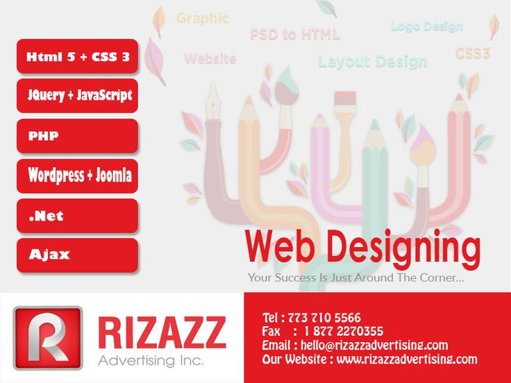 Let the visual experts at Rizazz Advertising Inc. Create, promote and differentiate your brand by developing a strong logo, type style, color palette and brand usage guidelines for all your marketing materials and messaging.
