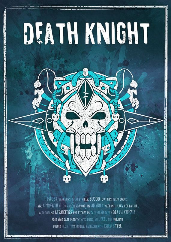 World of Warcraft: Death Knight Class Symbol by SodaArcade on Etsy