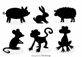 Animaux silhouettes collection
