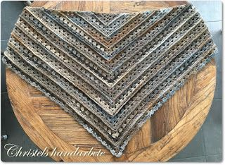 Christels handarbete: Virkad sjal, Crochet shawl