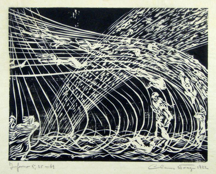 """Claus Wrage """"Göttliche Komödie - Inferno"""" 1922"""