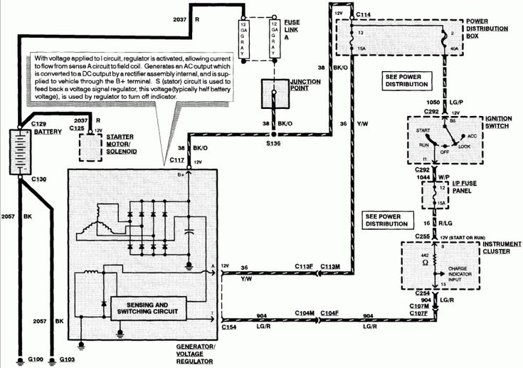 17  2003 Lincoln Town Car Alternator Wiring Diagram