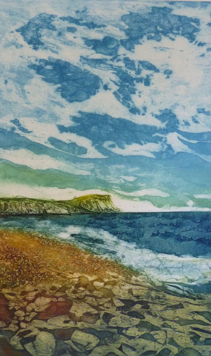 Such a Perfect Day. Collagraph by Ross Thompson