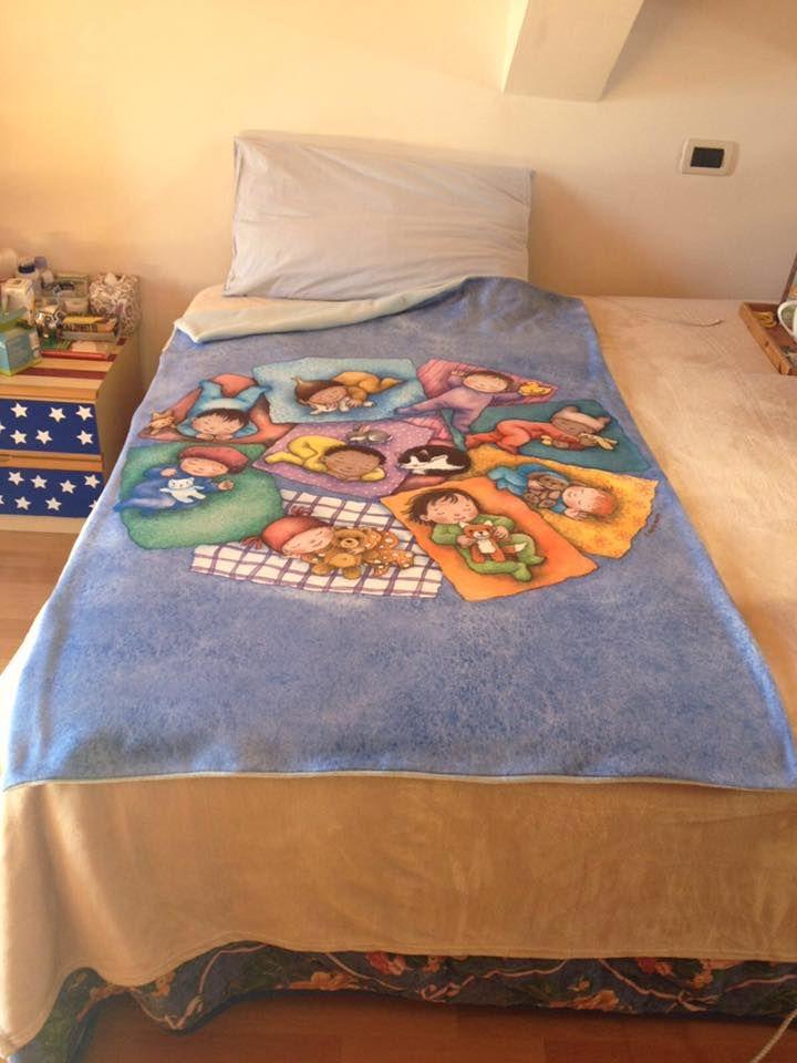 La coperta della buona notte è uno dei bellissimi premi collegati al libro Apriti notte. Il libro Apriti notte si può prenotare su www.bookabook.it/projects/apriti-notte #apritinotte #arte #illustrazione #book #musica #ninnananna #coperta
