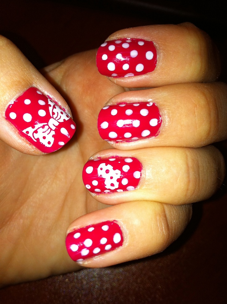1000+ Images About Minnie Mouse Nails On Pinterest