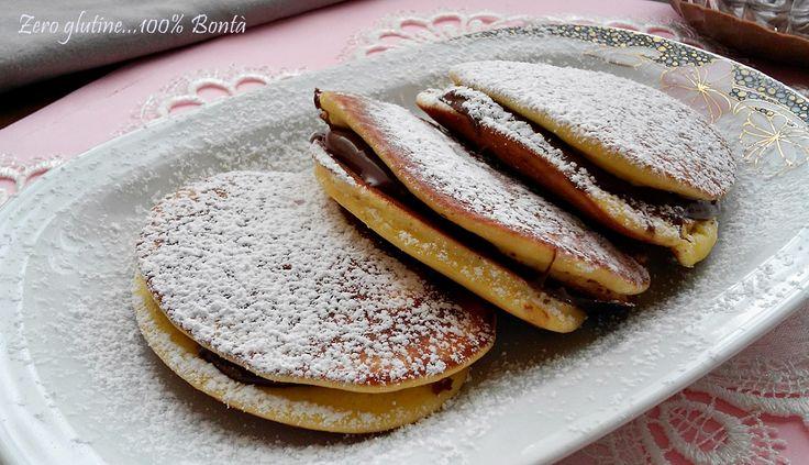 Dorayaki senza glutine golosi e facili da preparare.