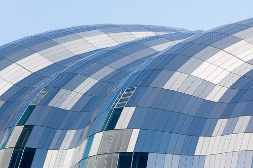 Delight: Photos of the Sage Gateshead faceted roof © Quintin Lake