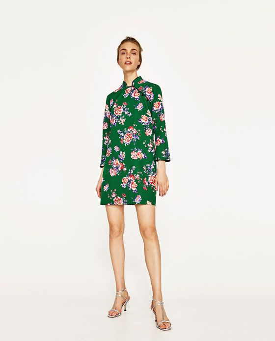 ZARA - COLLECTION AW/17 - MINI DRESS WITH PRINT