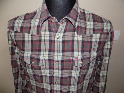 Wrangler koszula męska M 40 krata flanelowa flanel