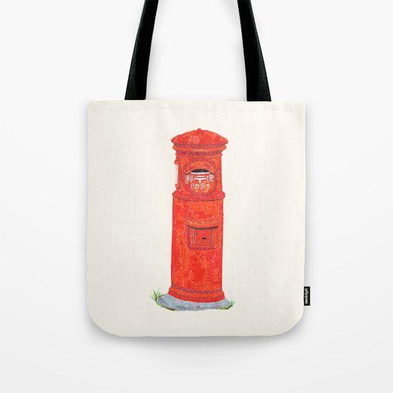 Red Mailbox Tote Bag by Shihotana