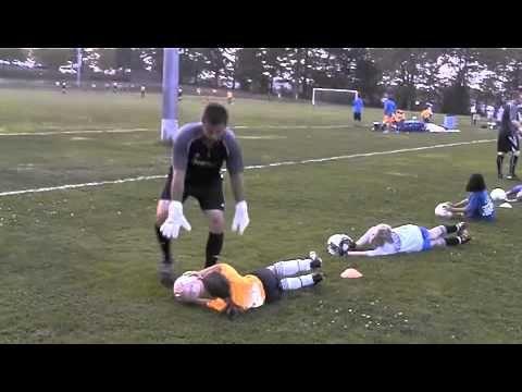 Soccer Goalie Diving Posture
