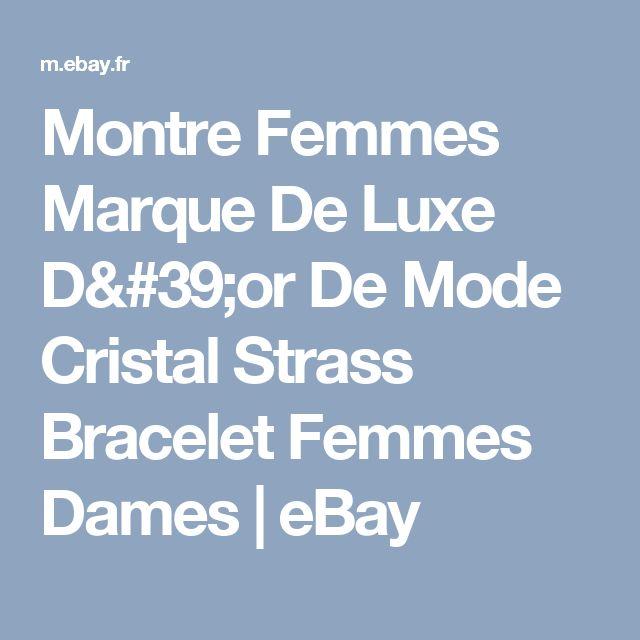 Montre Femmes Marque De Luxe D'or De Mode Cristal Strass Bracelet Femmes Dames | eBay